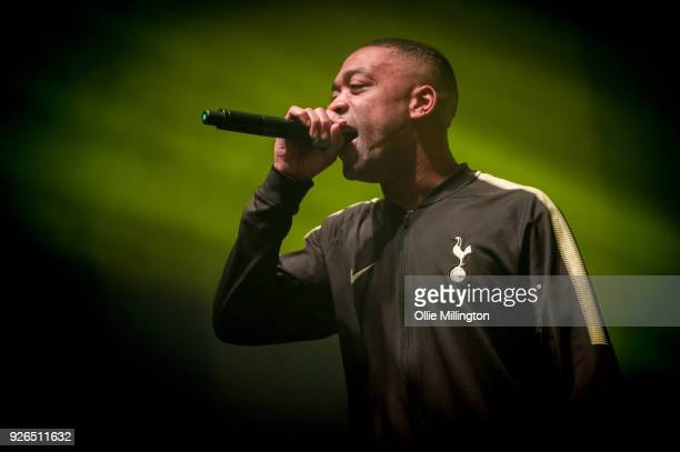 Wiley performs at O2 Academy Brixton hours after recieving his MBE from the Duke of Cambridge at the 2018 New Year Investitures ceremony on March 2,...