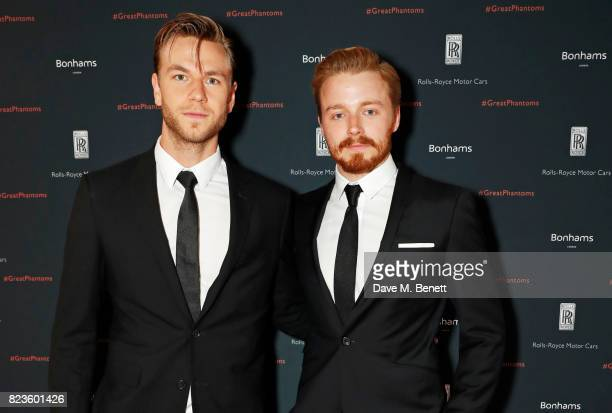 Wilf Scolding and Jack Lowden attends the global debut of the new RollsRoyce Phantom at Bonhams on July 27 2017 in London England