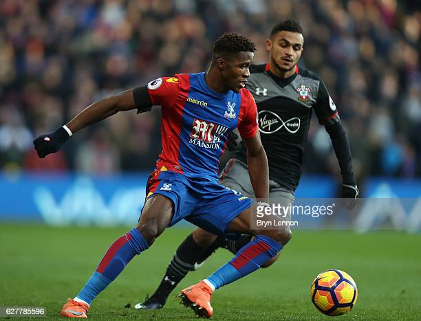 Wilfired Zaha of Crystal Palace in action during the Premier League match between Crystal Palace and Southampton at Selhurst Park on December 3 2016...