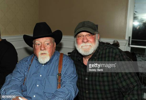 Wilford Brimley and Richard Masur attend the 2017 Monster Mania Con at NJ Crowne Plaza Hotel on March 10 2017 in Cherry Hill New Jersey