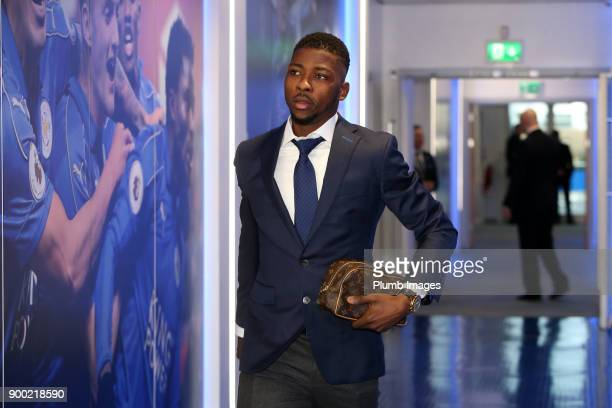Wilfred Ndidi ahead of the Premier League match between Leicester City and Huddersfield at King Power Stadium on January 01st 2018 in Leicester...