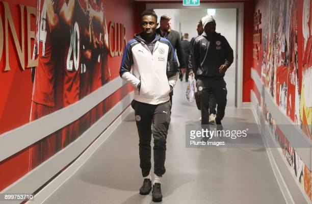 Wilfred Ndidi of Leicester City arrives at Anfield ahead of the Premier League match between Liverpool and Leicester City at Anfield on December 30th...