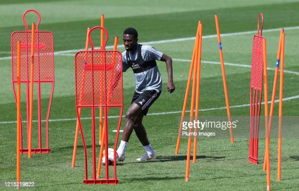 Wilfred Ndidi of Leicester City during the Leicester City training session at Belvoir Drive Training Complex on May 26th, 2020 in Leicester, United...