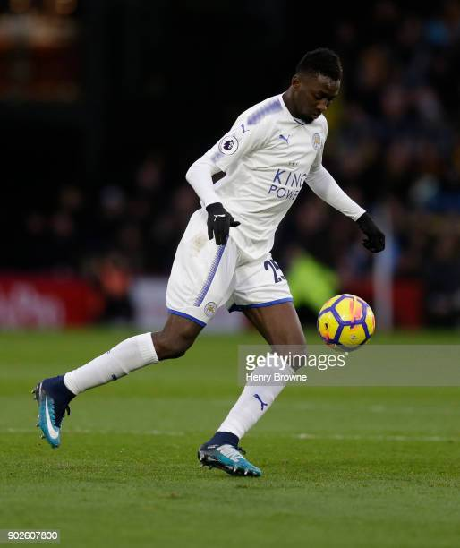 Wilfred Ndidi of Leicester City during the Premier League match between Watford and Leicester City at Vicarage Road on December 26 2017 in Watford...