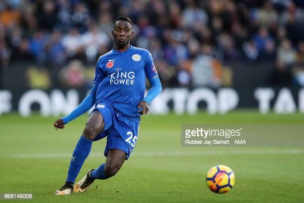 Wilfred Ndidi of Leicester City during the Premier League match between Leicester City and Everton at The King Power Stadium on October 29 2017 in...