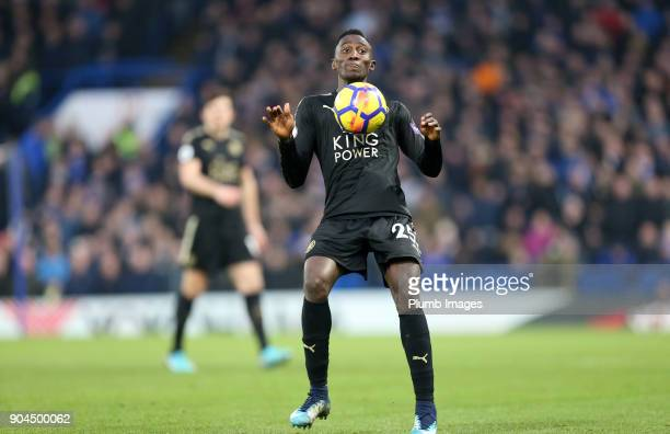 Wilfred Ndidi of Leicester City in action during the Premier League match between Chelsea and Leicester City at Stamford Bridge on January 13th 2018...