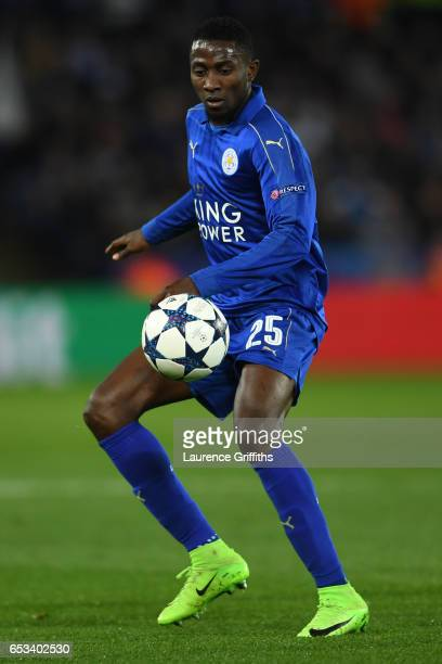 Wilfred Ndidi of Leicester City in action during the UEFA Champions League Round of 16 second leg match between Leicester City and Sevilla FC at The...