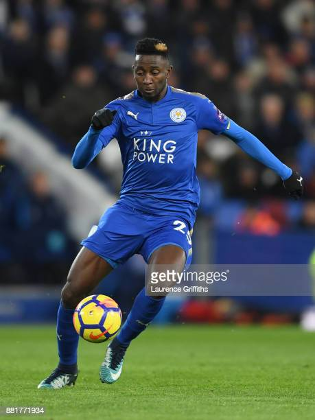 Wilfred Ndidi of Leicester City runs with the ball during the Premier League match between Leicester City and Tottenham Hotspur at The King Power...