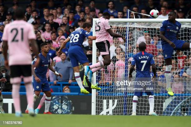 Wilfred Ndidi of Leicester City scores a goal to make it 11 during the Premier League match between Chelsea FC and Leicester City at Stamford Bridge...