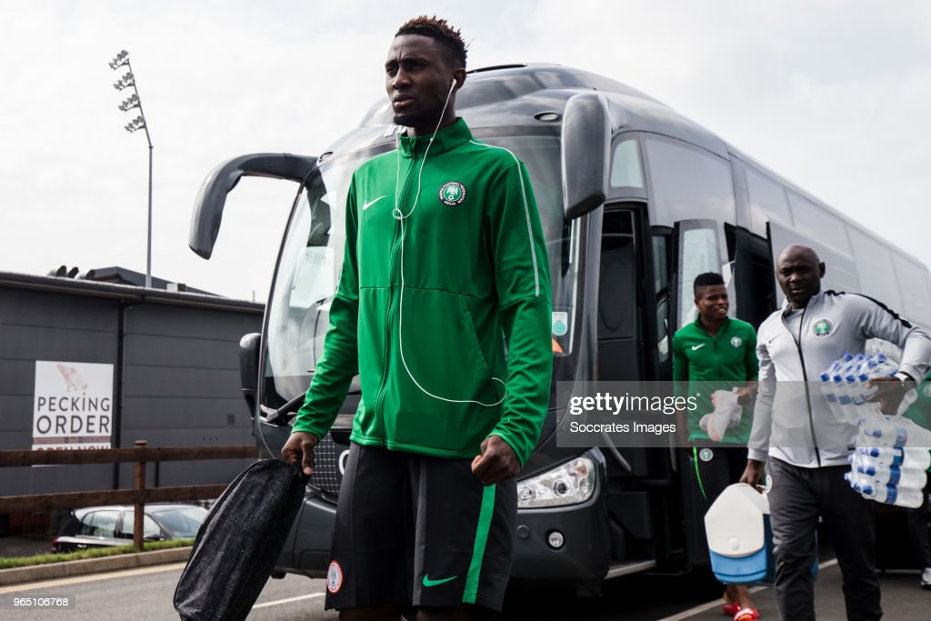 Wilfred Ndidi of Nigeria during the Nigeria Training at the The hive on May 31, 2018 in Barnet United Kingdom