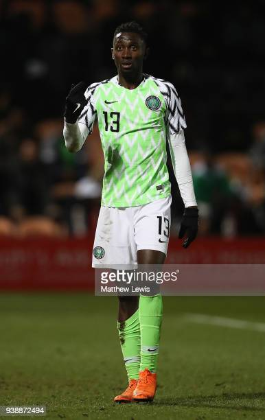 Wilfred Ndidi of Nigeria in action during the International Friendly match between Nigeria and Serbia at The Hive on March 27 2018 in Barnet England