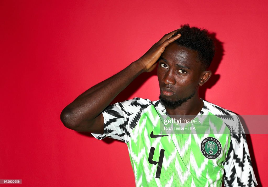 Wilfred Ndidi of Nigeria poses during the official FIFA World Cup 2018 portrait session on June 12, 2018 in Yessentuki, Russia.