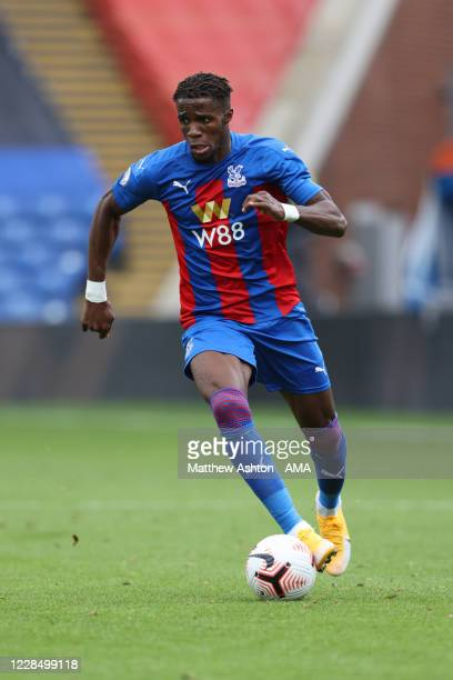 Wilfred Zaha of Crystal Palace during a Pre-Season Friendly match between Crystal Palace and Brondby IF at Selhurst Park on September 5, 2020 in...
