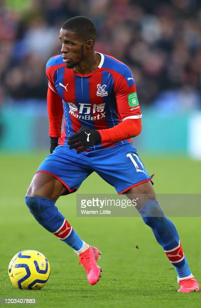 Wilfred Zara of Crystal Palace in action during the Premier League match between Crystal Palace and Sheffield United at Selhurst Park on February 01...