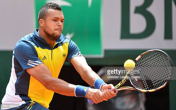 Wilfrid Stonga during the first round of the French Tennis Open 2013 at RolandGarros Stadium in Paris France on May 27 2013 Photo by Corbiscom