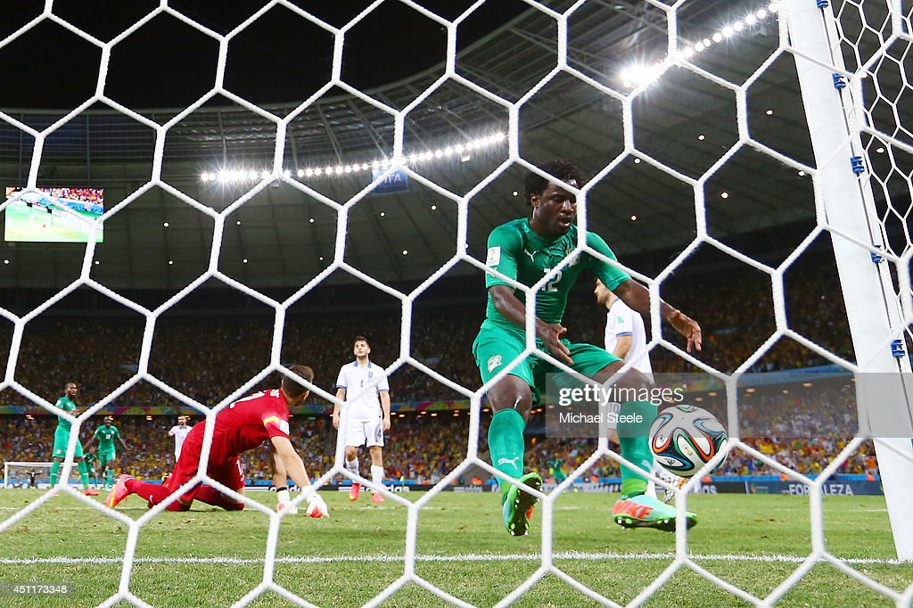 Greece v Cote D'Ivoire: Group C - 2014 FIFA World Cup Brazil : News Photo