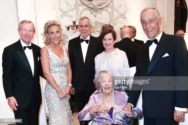 Wilfried Haslauer Christina Roesslhuber Federal President of Austria Alexander von der Bellen with his wife Doris Schmidauer Fuerstin 'Manni'...