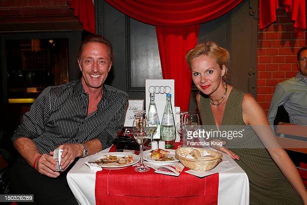 Wilfried Hochholdinger and Natascha Berlin attend the Audi Classic Open Air in the Kulturbrauerei on August 15 2012 in Berlin Germany