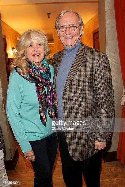 Wilfried Klaus and wife attend the NDF After Work Presse Cocktail at Parkcafe on March 19 2014 in Munich Germany