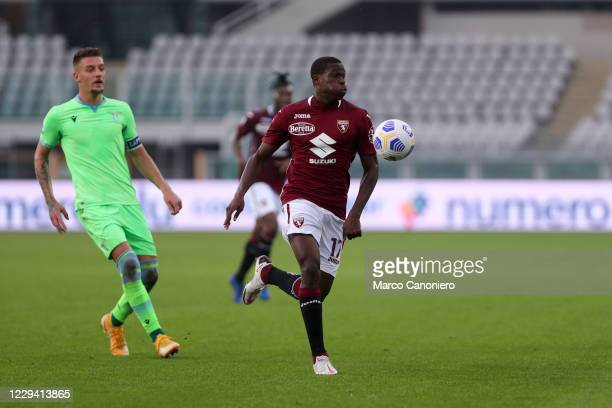 Wilfried Singo of Torino FC in action during the Serie A match between Torino Fc and Ss Lazio. Ss Lazio wins 4-3 over Torino Fc.