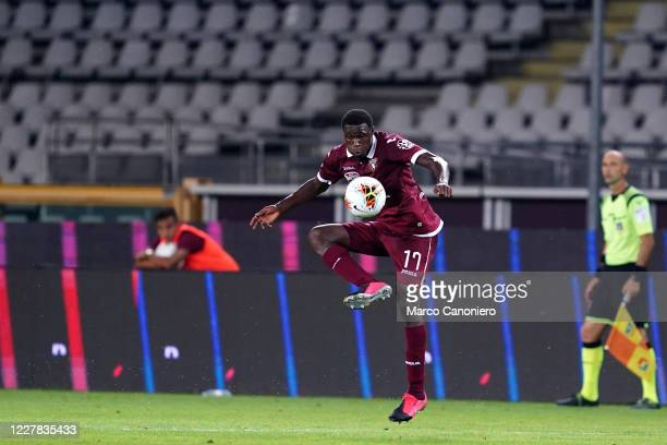Wilfried Stephane Singo of Torino FC in action during the Serie A match between Torino Fc and As Roma As Roma wins 32 over Torino Fc