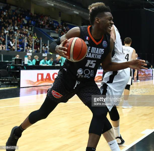 Wilfried Yeguete seen in action during the game Basketball Champions League BC Nizhny Novgorod from Russia vs Le Mans from France The game ended with...