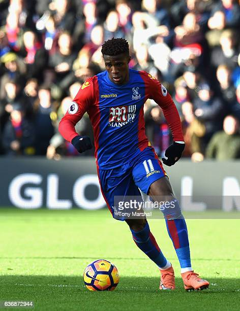 Wilfried Zaha of Crystal Palace during the Barclays Premier League match between Watford and Crystal Palace at Vicarage Road on December 26 2016 in...