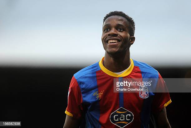 Wilfried Zaha of Crystal Palace during the npower Championship match between Crystal Palace and Derby County at Selhurst Park on November 17 2012 in...