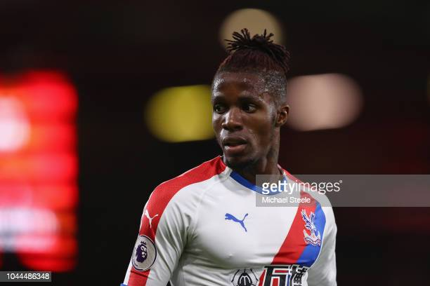 Wilfried Zaha of Crystal Palace during the Premier League match between AFC Bournemouth and Crystal Palace at Vitality Stadium on October 1 2018 in...