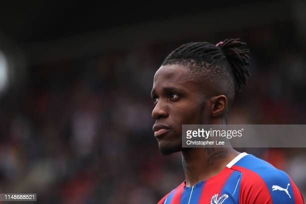 Wilfried Zaha of Crystal Palace during the Premier League match between Crystal Palace and AFC Bournemouth at Selhurst Park on May 12 2019 in London...