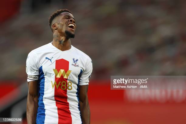 Wilfried Zaha of Crystal Palace during the Premier League match between Manchester United and Crystal Palace at Old Trafford on September 19 2020 in...
