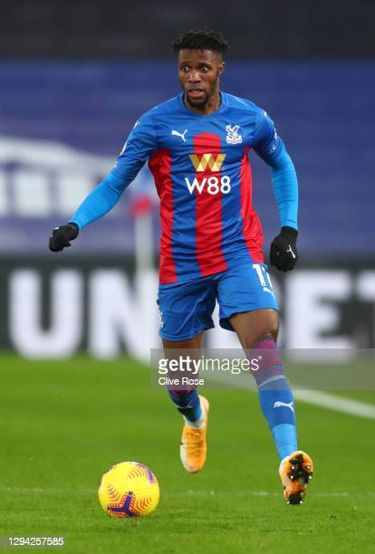 Wilfried Zaha of Crystal Palace during the Premier League match between Crystal Palace and Sheffield United at Selhurst Park on January 02, 2021 in...