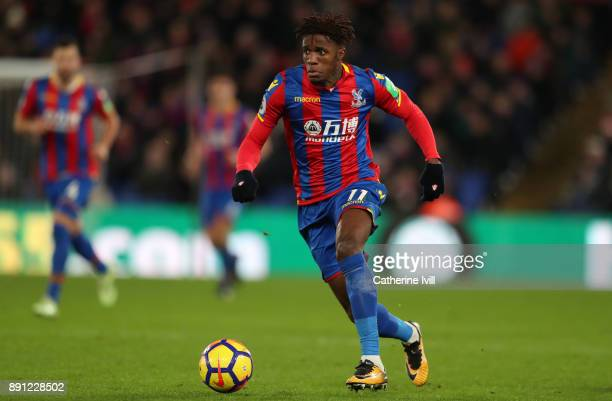 Wilfried Zaha of Crystal Palace during the Premier League match between Crystal Palace and Watford at Selhurst Park on December 12 2017 in London...