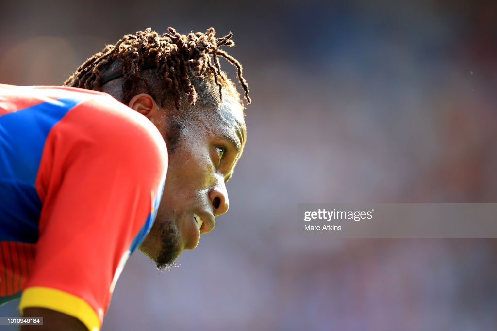 Wilfried Zaha of Crystal Palace during the Pre-Season Friendly between Crystal Palace and Toulouse at Selhurst Park on August 4, 2018 in London, England.