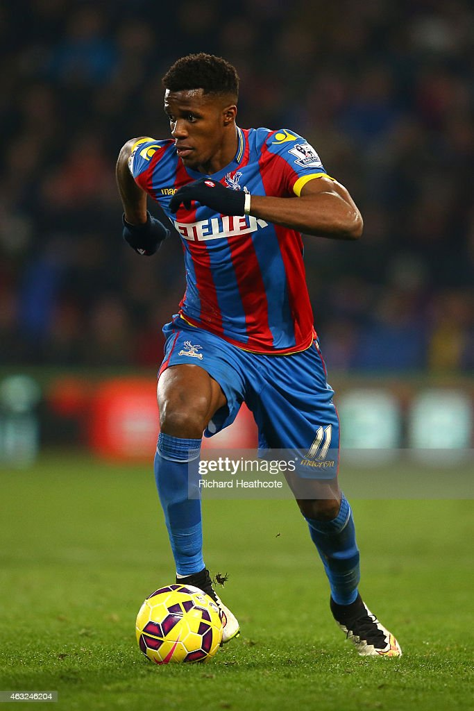 Wilfried Zaha of Crystal Palace in action during the Barclays Premier League match between Crystal Palace and Newcastle United at Selhurst Park on February 11, 2015 in London, England.