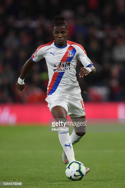 Wilfried Zaha of Crystal Palace in action during the Premier League match between AFC Bournemouth and Crystal Palace at Vitality Stadium on October 1...