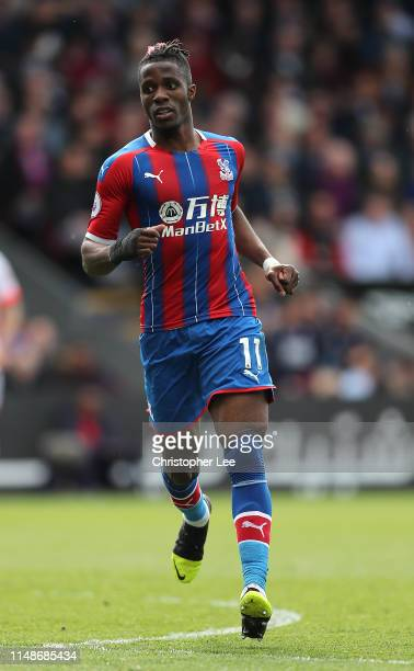 Wilfried Zaha of Crystal Palace in action during the Premier League match between Crystal Palace and AFC Bournemouth at Selhurst Park on May 12 2019...