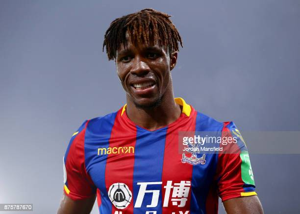 Wilfried Zaha of Crystal Palace in action during the Premier League match between Crystal Palace and Everton at Selhurst Park on November 18 2017 in...