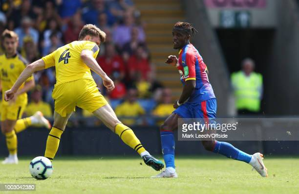 Wilfried Zaha of Crystal Palace in the pre season friendly between Oxford United and Crystal Palace at Kassam Stadium on July 21 2018 in Oxford...