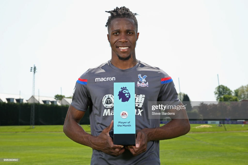 Wilfried Zaha is Awarded with the EA SPORTS Player of the Month for April