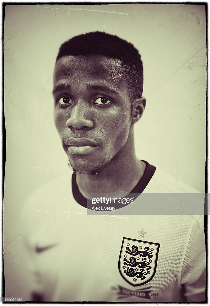 Wilfried Zaha of England Under-21s poses for a portrait at St Georges Park on March 19, 2013 in Burton-upon-Trent, England.