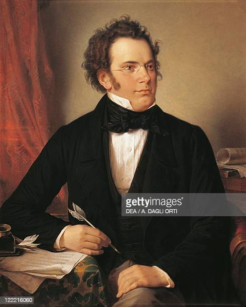 Wilhelm August Rieder Portrait of Franz Peter Schubert Austrian composer 1875