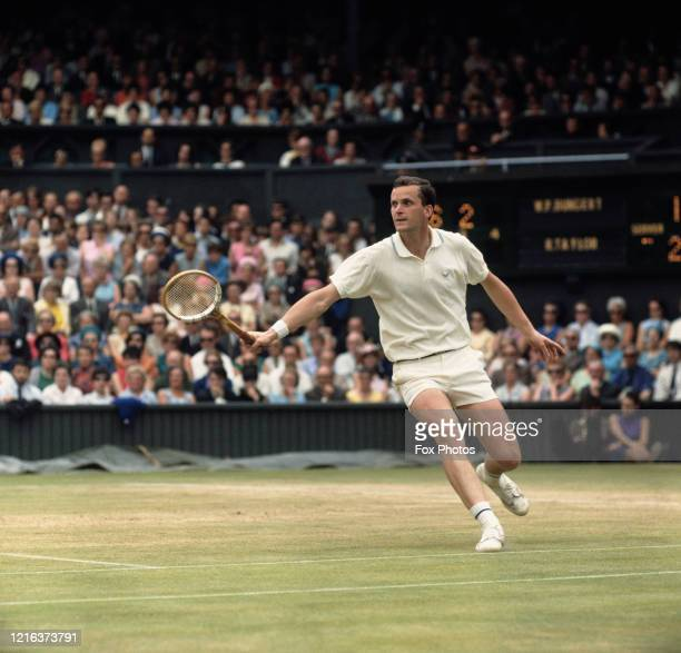 Wilhelm Bungert of Germany during the Men's Singles Quarter-Final match against Thomaz Koch at the Wimbledon Lawn Tennis Championship on 3rd July...