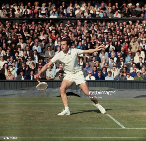 Wilhelm Bungert of Germany during the Men's Singles Third round match against Marty Riessen at the Wimbledon Lawn Tennis Championship on 25th June...