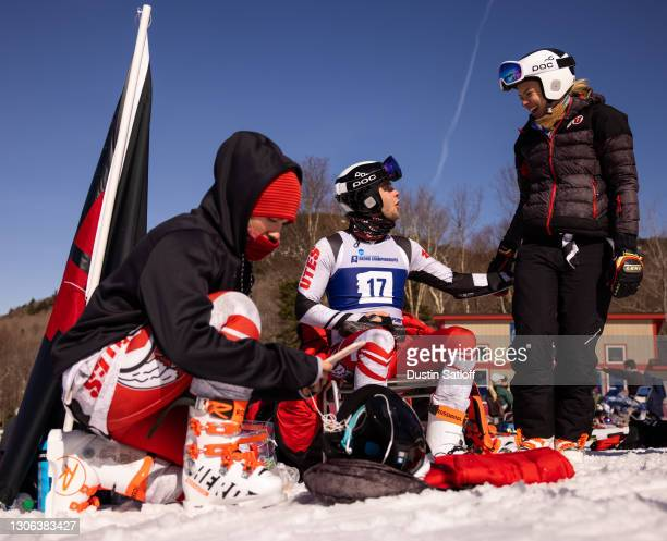 Wilhelm C Normannseth of the University of Utah, Sona Moravcikova of the University of Utah, and Kathryn Parker of the University of Utah wait in...