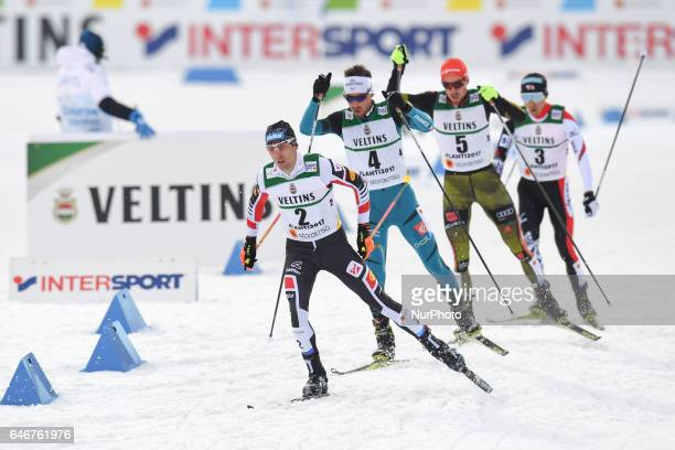 Wilhelm Denifl from Austria leads during Men 10km Nordic Combined final, at FIS Nordic World Ski Championship 2017 in Lahti. On Wednesday, February...