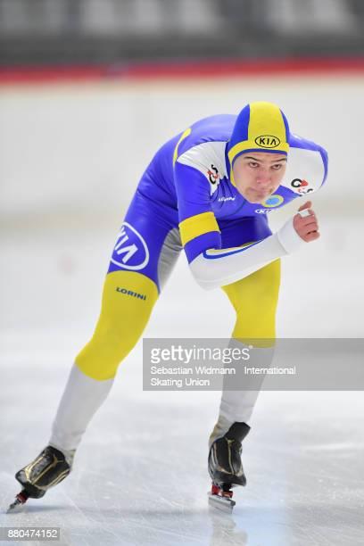 Wilhelm Ekensskar of Sweden performs during the Men 1500 Meter at the ISU Neo Senior World Cup Speed Skating at Max Aicher Arena on November 26 2017...