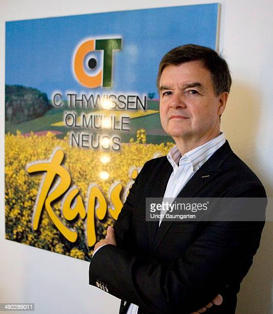 Wilhelm F Thywissen general representative of Company C Thywissen and president of the Association of oilseed processing industriy on May 15 2014 in...