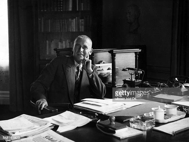 Wilhelm Frick *12031877 Politician Germany in his study 1935 Photographer James E Abbe Vintage property of ullstein bild