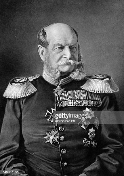 Wilhelm I German Emperor King of Prussia*2203179709031888 Portrait in uniform 1878 Photographer Franz von Hanfstaengl MunichVintage property of...
